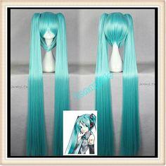 Vocaloid Hatsune Miku aqua blue miku wig Anime by Jennylife, $23.99