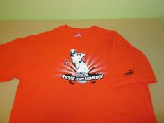 RICKIE FOWLER PGA Tour  T Shirt Sz XL - Orange - PUMA GOLF #PUMA