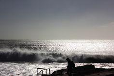 Cascais, Portugal, sea, reflections, waves, sky