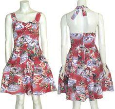 Jade Fashions Hawaiian Halter Dress #summer #fashion #dress