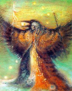a shaman #shapeshifting into a bird..Susan Seddon-Boulet