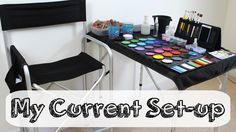 My Face Painting Set-up 2014 BY ASHLEA HENSON