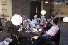 Las oficinas de Instagram: no es que sean muy bonitas, pero el especio por persona es increíble y la lámparas muy chulas ;-)
