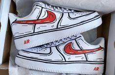 Nike Air Force, Air Force Ones, Painted Sneakers, Hand Painted Shoes, White Nike Shoes, Nike Air Shoes, Custom Sneakers, Custom Shoes, Nike Custom