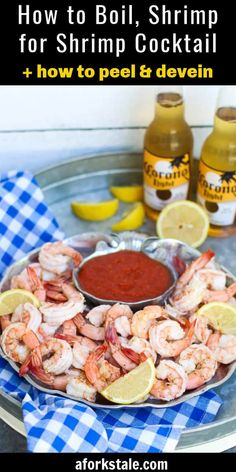 Follow these easy tips and steps on how to boil shrimp to make the perfect shrimp cocktail. Also included are detailed instructions on how to peel and devein shrimp. #howtoboilshrimp #shrimpcocktail #aforkstale Easy Appetizer Recipes, Yummy Appetizers, Lunch Recipes, New Recipes, Healthy Recipes, Summer Recipes, Easy Recipes, Healthy Food, Fried Fish Recipes