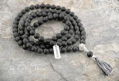 Yogabekleidung - 108 Mala Gebetskette Achat - ein Designerstück von Cathy-Thica-Namaste bei DaWanda