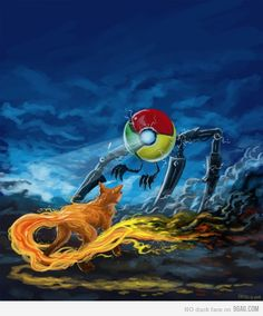Chrome vs Firefox  Google always win, except FaceBook :)