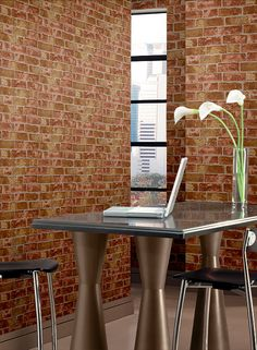 Do you love the look of exposed brick? Brick wallpaper can give you the gorgeous of exposed brick without the hassle! Textured Brick Wallpaper, Brick Wall Wallpaper, Wallpaper For Sale, Home Wallpaper, Wallpaper Patterns, Wallpaper Roll, Faux Brick, Brick And Stone, Exposed Brick