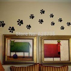 decoracion de pared con huellas de perrito - Buscar con Google