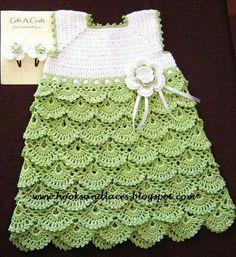 Crochet Princess Scallops Dress