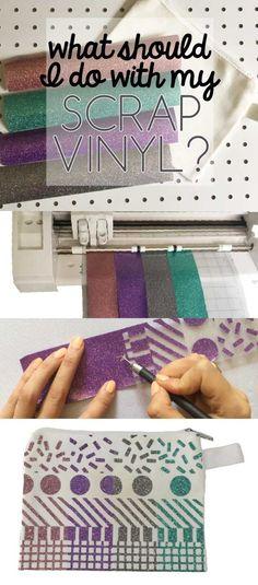 Creative ways to use up scrap vinyl