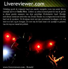 """""""Great songs from a marvelous band!"""" Livereviewer.com (NL)"""