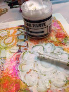 Using Texture Paste in Art Journaling