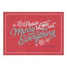 Gift Red Ribbon Script Holiday Card Personalized Announcements