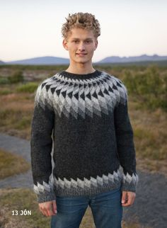 Lopi sweater pattern: Jón by Hulda Hákonardóttir, published in Ístex Lopi Booklet No. 31.