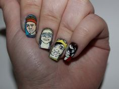 Seconds of Summer) Don't Stop Nails 5sos Art, 5sos Nails, Olive Nails, Lyric Drawings, She Looks So Perfect, 5sos Lyrics, Super Cute Nails, 5 Seconds Of Summer, Girly Things