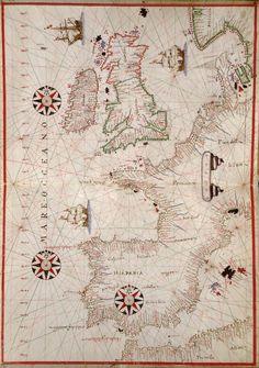 Atlas portulans de la Mer Méditerranée, de l'Europe occidentale et des côtes de l'Afrique du Nord-Ouest. — Afficheur — Bibliothèque numérique mondiale