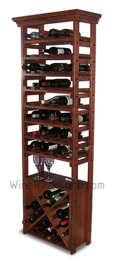 Combine bin and individual wine storage in one great wood wine rack.