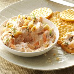 Smoked Salmon Cheese Spread - Taste of Home Appetizer Dips, Appetizers For Party, Appetizer Recipes, Snack Recipes, Cooking Recipes, 1970s Party Food Recipes, Heavy Appetizers, Retro Recipes, Snacks