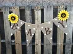 2.00 shipping .. . Baby Burlap Banner with by BurlapGirl on Etsy, $16.00