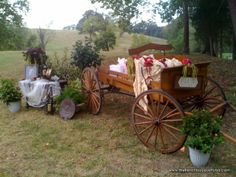 Rustic Outdoor Wedding Touches with a Carriage, Lace and Fresh Flowers - Behind the Scenes with The French Bouquet