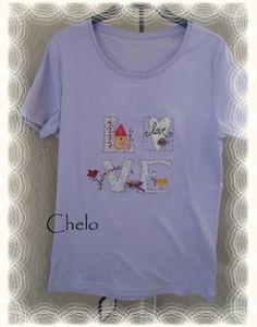 El rincón de Chelo: Camiseta Tilda-LOVE