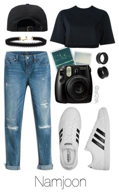 Walk with Namjoon by ari2sk on Polyvore featuring polyvore, fashion, style, NIKE, White House Black Market, adidas, Vanessa Mooney, NOVICA, Fujifilm, Polaroid and clothing