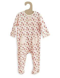 Pijama de algodón estampado                                                                                                 azul Bebé niña