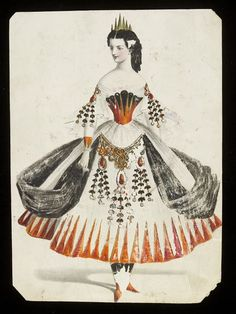 Design for a fancy-dress costume | Jules Helleu | V&A Search the Collections