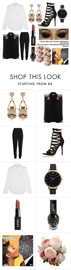 """'You can be mean when you look this clean, I'm a classic man...'"" by melmelj ❤ liked on Polyvore featuring Anton Heunis, Alexander McQueen, Giambattista Valli, Black, RED Valentino, Olivia Burton and Wondaland"