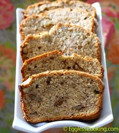 Vegan Banana Walnut Bread - I made this bread yesterday - it makes two small loaves - I had a piece of one loaf and my husband ate the rest of the two loaves - nice.... obviously a yummy recipe!