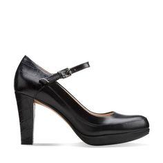 Kendra Dime Black Combi Leather - Clarks Womens Shoes - Womens Heels and Flats - Clarks - Clarks® Shoes