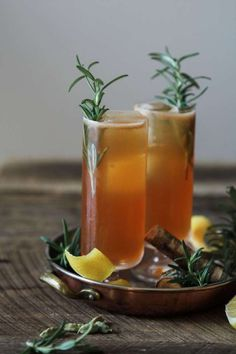 Ginger, Cardamom and Rosemary Gin Cocktail - Jessi's Kitchen