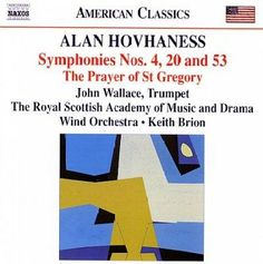 Royal Scottish Academy Of Music And Drama Wind Orchestra - Alan Hovhaness: Symphonies No 4, 20 & 53