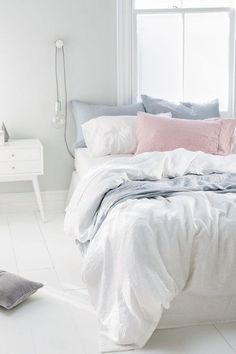 Milo and mitzy: Ezibuy- Spring Catalogue / Bedroom inspiration / Pretty bed sheets / White wooden floor