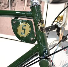 Detail of the new Pashley SPEED 5. The bike itself seems to be based on the Guv'nor.