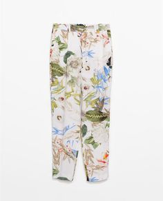 FLOWER PRINT TROUSERS from Zara £39.99