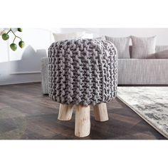 Stolička Sedel 45cm šedá, pletená