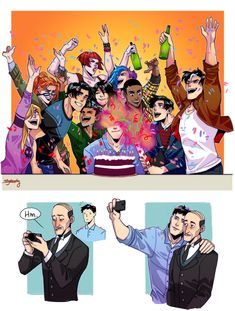 That broke my heart and fixed at the same time. Happy birthday Bruce Wayne -the bat family Damian Wayne, Marvel Fanart, Marvel Dc Comics, Dc Comics Funny, Batman Y Superman, Batman Robin, Nightwing, Gotham, Harley Quinn