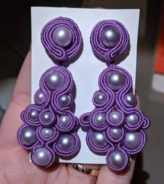 Soutache earrings - first experiment with the technique