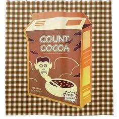 Count Cocoa Box shower curtain - Halloween happyhalloween festival party holiday