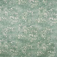 S2486 Spray Teal Fabric, Orange Fabric, Floral Fabric, Fabric Decor, Floral Prints, Cotton Fabric, Greenhouse Fabrics, Art Deco Home, Blue Tones