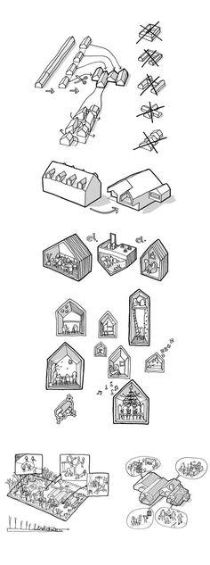 CEBRA || El Hogar de los niños del Futuro, Kerteminde, Denmark.  - A selection of sketches.