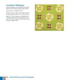 Мобильный LiveInternet Мотивы крючком - Crochet Stitches VISUAL Encyclopedia | MerlettKA - © MerlettKA® ™ | Carnations, Single Crochet, Color Change, Stitch Patterns, Chart, Wallpaper, Simple, Frame, Pretty