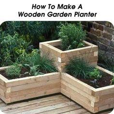 How To Make A Wooden Garden Planter - http://www.hometipsworld.com/how-to-make-a-wooden-garden-planter.html