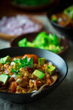 Turkey Chili with Pinto Beans by healthyseasonalrecipes #Chili #Turkey #Healthy