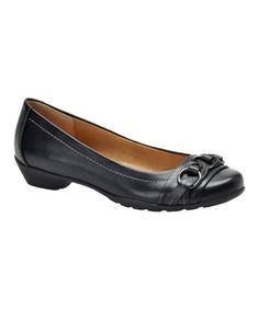 Take a look at this Black Posie Ballet Flat by Softspots on #zulily today!