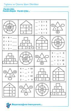 Four-day math training, numbers up to worksheet math to dyscalculia … - Education Science Math For Kids, Fun Math, Math Games, Math Activities, 1st Grade Math, Kindergarten Math, Teaching Math, Math Addition, Math Worksheets