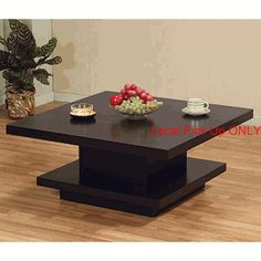 Contemporary Coffee Table in Coffee Bean Finish