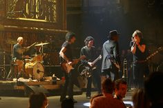 "Mick Jagger, Charlie Watts, Ronnie Wood and Keith Richards #TheRolling Stones perform with Buddy Guy at the Beacon Theater during the Rolling Stones concert film ""Shine A Light."" Photo Credit: Jacob Cohl. © 2008"